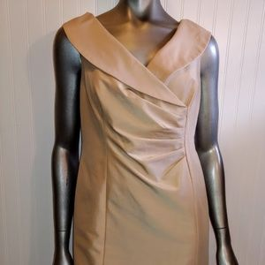 Kay Unger New York Silk Tan Dress - 12P - B5